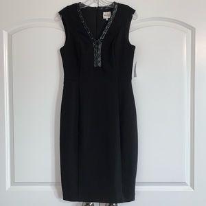 Ashley Graham Beyond Faux Leather Lace Up Dress